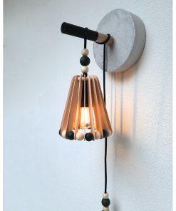 diy pakket lamp verlichting beton hout accessoires interieur muur wand