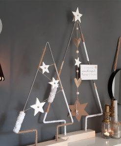 diy pakket kerstboom huis decoratie interieur kerst staal hout