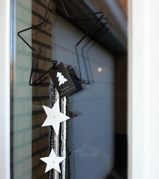 ster huis decoratie interieur kerst staal kaartje
