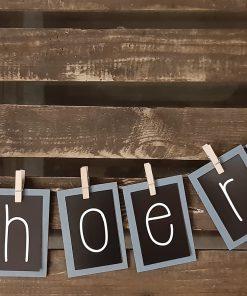 diy pakket woord slinger letters interieur decoratie kralen touw jute kinderfeest