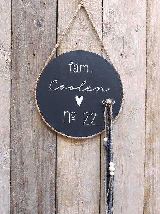 diy pakket wand muur decoratie hout touw interieur familie