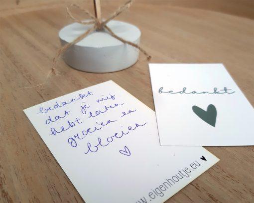 eigenhoutje creatieve workshops limburg DIY pakketten kaarten bedankt
