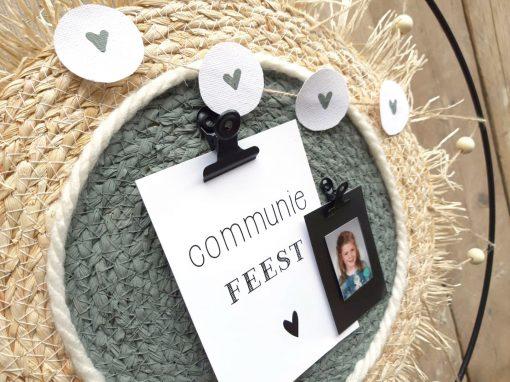 diy pakket staande decoratie ring grijsgroen communie