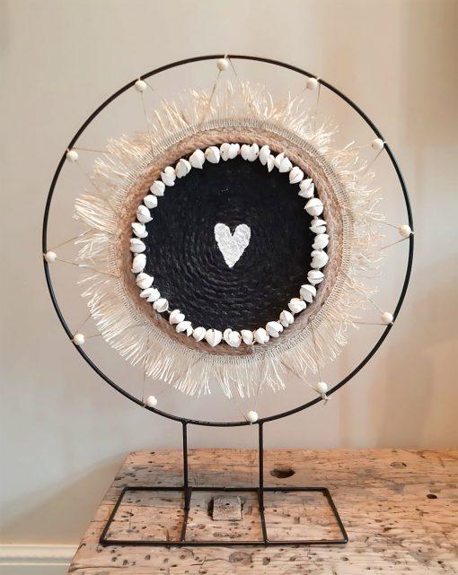 diy pakket staande decoratie ring met schelpenslinger