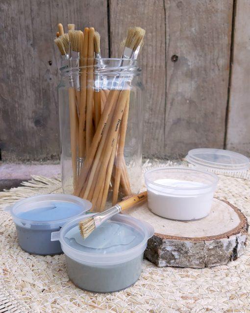 DIY pakket eigenhoutje acrylverf en verfkwasten