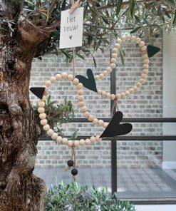 eigenhoutje diy pakket geluksvogels kralen decoratie interieur