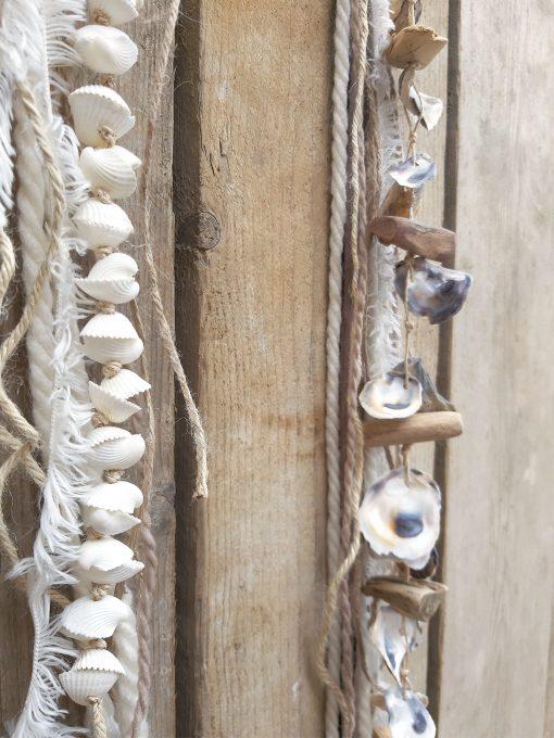 wand decoratie muur tuin interieur zomer schelpen ring